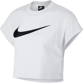 Nike Sportswear Swoosh Short-Sleeve Crop Top Nők fehér