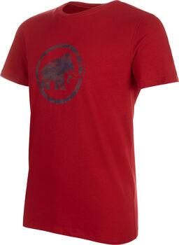 MAMMUT Logo ffi. póló Férfiak piros