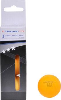 TECNOPRO 3 Star pingpong labda narancssárga