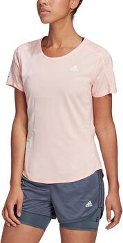 adidas Run It Tee 3-Stripes női póló Nők rózsaszín