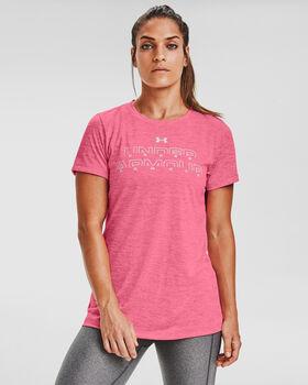 Under Armour  Tech Twistnői póló Nők rózsaszín
