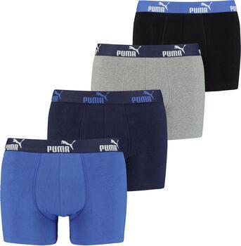 Puma Solid férfi boxeralsó (4db/csomag) Férfiak kék