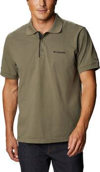 Columbia Cascade Range Solid férfi galléros póló Férfiak zöld