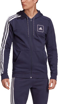 adidas M 3S Tape FZ férfi szabadidőkabát Férfiak kék