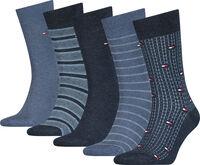 Fine Stripe férfi zokni (5pár/csomag)