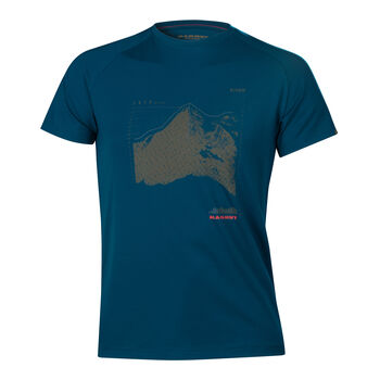 MAMMUT Mountain ffi. póló Férfiak kék