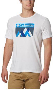 Columbia  M Alpine Way Graphférfi póló Férfiak fehér