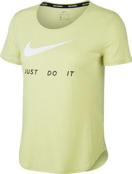 Nike Top SS Swoosh női futópóló Nők sárga