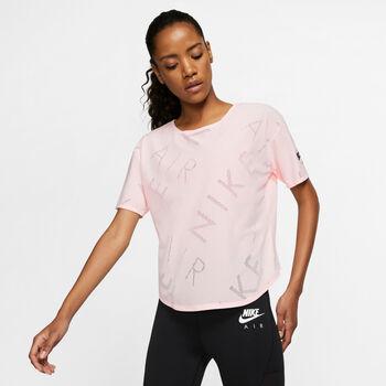 Nike SS Top Air női futópóló Nők rózsaszín