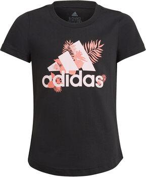 adidas TROPICAL BOS G lány póló fekete