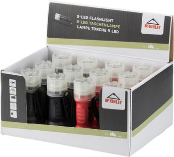 McKINLEY  LED 9 fényszóró12 db/csomag színes