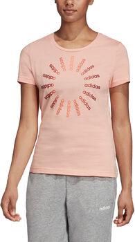 ADIDAS Circled Graphic Tee női póló Nők rózsaszín