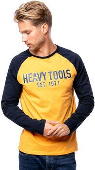 Heavy Tools Challenger férfi hosszú ujjú póló Férfiak sárga