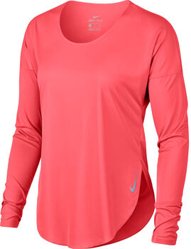 Nike City Sleek Long-Sleeve Running Top Nők narancssárga