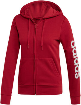 ADIDAS Essential Linear Hoodie női kapucnis felső Nők piros